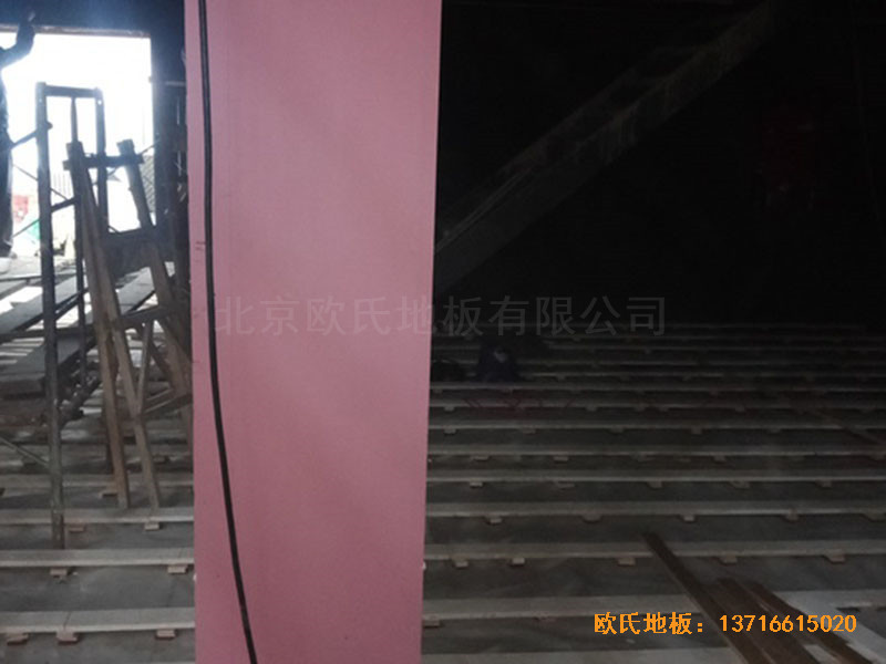 河北承德滦平一中升降舞台运动地板铺装案例