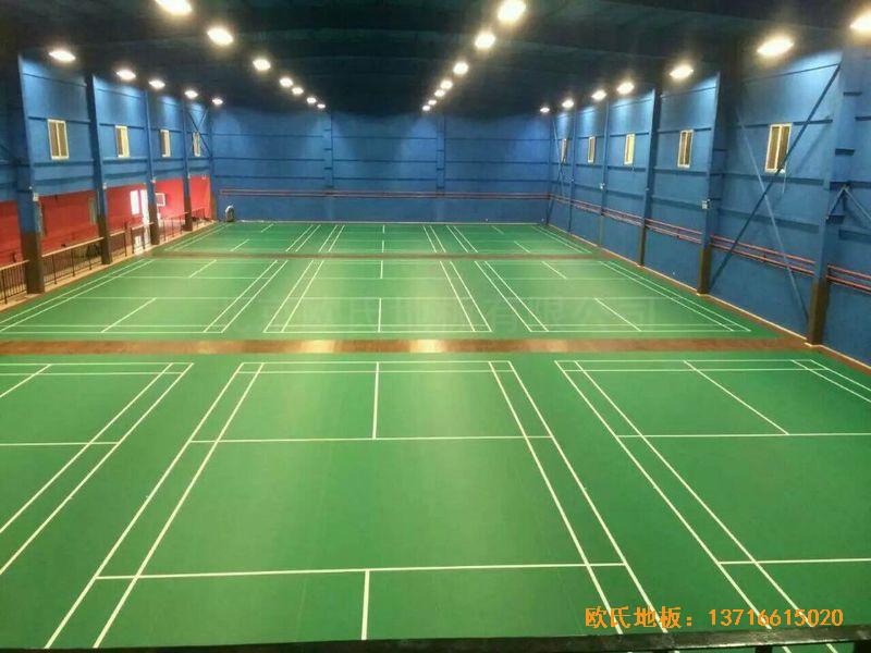 北京莲石羽羽毛球俱乐部运动木地板铺装案例