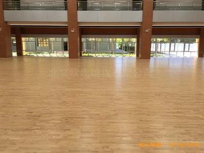 山西晋中榆次区寇村小学运动馆运动地板施工案例