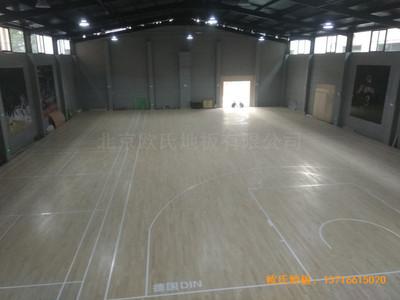 山西长治双创梦工厂篮球体育木地板铺设案例