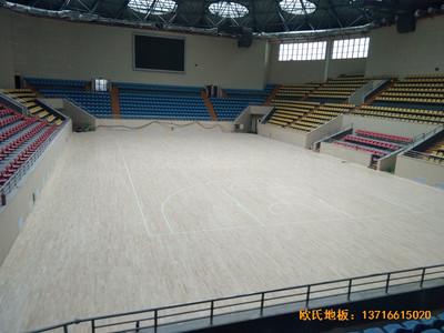广西全州体育馆体育地板施工案例
