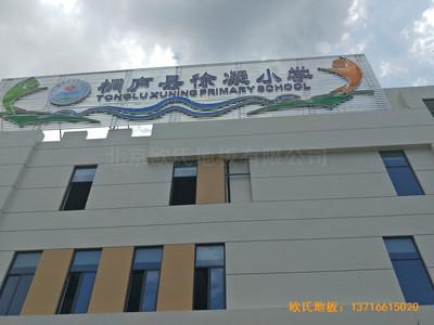 杭州分水镇徐凝小学运动馆运动地板施工案例