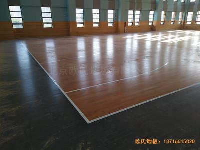武汉广阜屯小学清江锦城分校篮球馆运动地板铺设案例