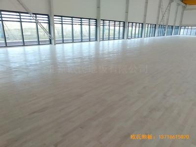 武汉青山区江滩体育馆体育地板铺装案例