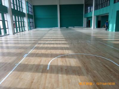 江苏南京汉风公司篮球馆运动地板铺设案例