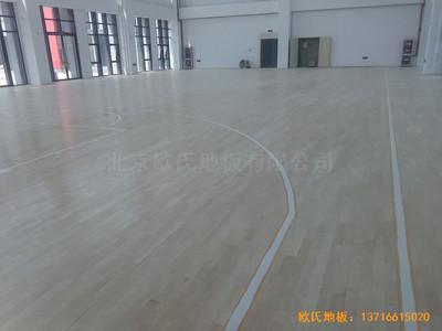 江苏常卅市都市科技园篮球馆运动木地板施工案例