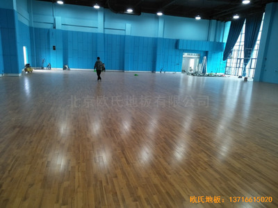 江苏柘汪镇港口大厦运动馆体育地板施工案例