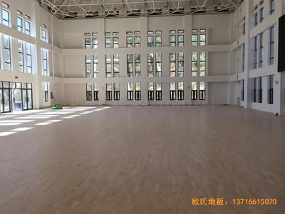 河南南阳南召县天池电站运动馆运动木地板铺设案例