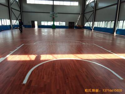 浙江杭州建设八局篮球馆运动木地板铺设案例