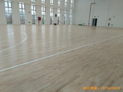 浙江温岭石桥头中心小学篮球馆体育木地板铺设案例
