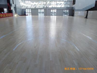 湖南衡阳生物环境技术学院篮球馆运动木地板施工案例