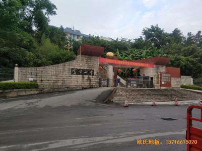 云南富宁一中篮球馆体育地板安装案例