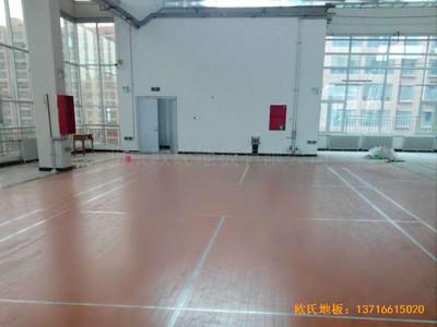 甘肃天水清水县农业学院篮球馆运动木地板铺装案例