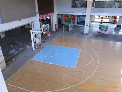 福建龙岩罗龙西路269号篮球馆体育地板安装案例