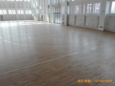 银川北塔中学篮球馆运动地板安装案例