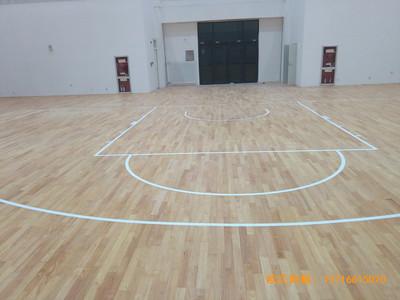 银川北师大银川小学篮球馆运动木地板铺装案例