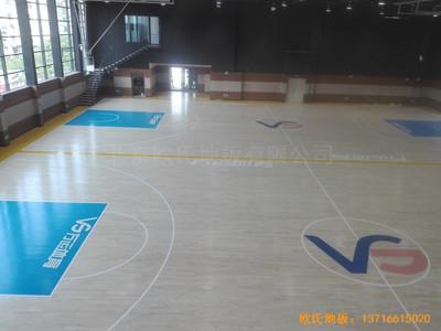 长沙万科金域行业体育馆运动木地板铺装案例