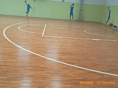 阳煤集团三矿球馆运动地板施工案例