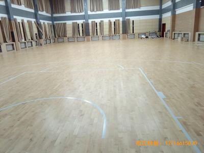 青海省税务干部学校篮球馆运动木地板安装案例