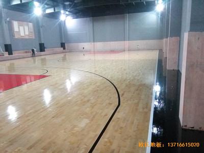 上海松江区kc篮球公园运动木地板施工案例