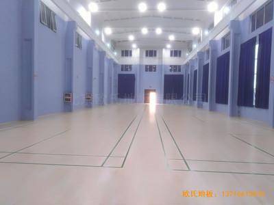 北京金通源健身中心体育木地板施工案例