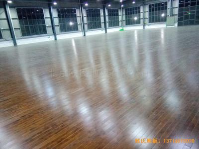 上海松江大学城外国语大学运动馆运动木地板铺设案例