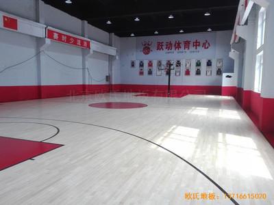 吉林珲春跃动体育中心运动木地板施工案例