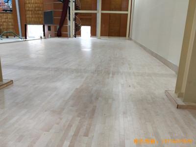 四川白头镇13667部队运动馆体育木地板施工案例
