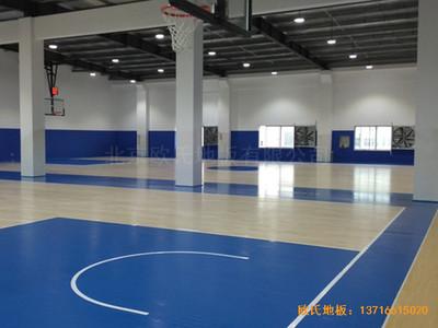上海虹梅南路2599鑫空蓝球馆运动木地板安装案例