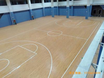 山东实验二小青岛分校篮球馆运动地板铺设案例