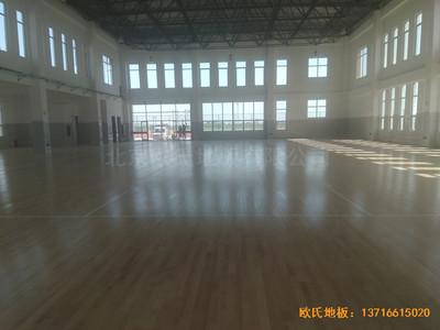 山东沾化第三实验小学体育馆运动木地板施工案例