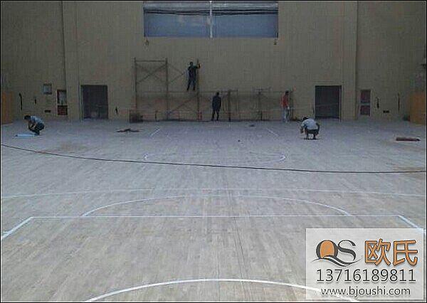 室内运动地板案例分享之杭州分水镇政府文体中心