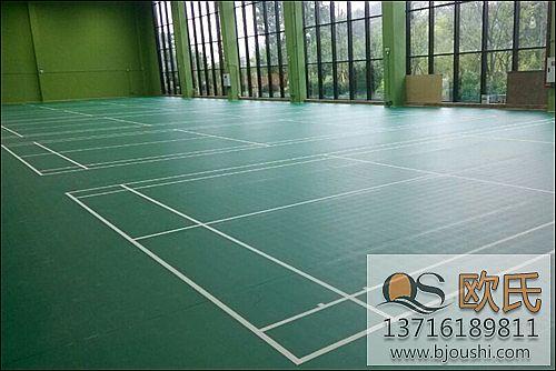 运动羽毛球木地板施工案例-重庆江与城体育公园