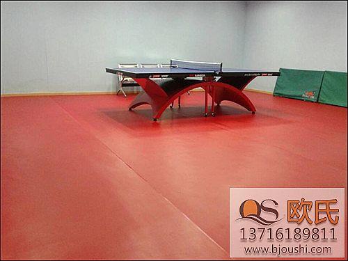 乒乓球地胶施工案例 南京财经大学