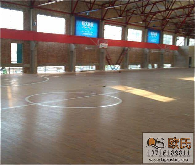 篮球场体育运动木地板施工销售案例天津二十三号体育