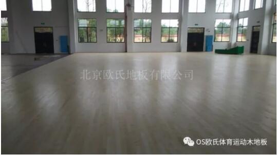 湖南宁乡县城南实验小学体育馆木地板成功案例