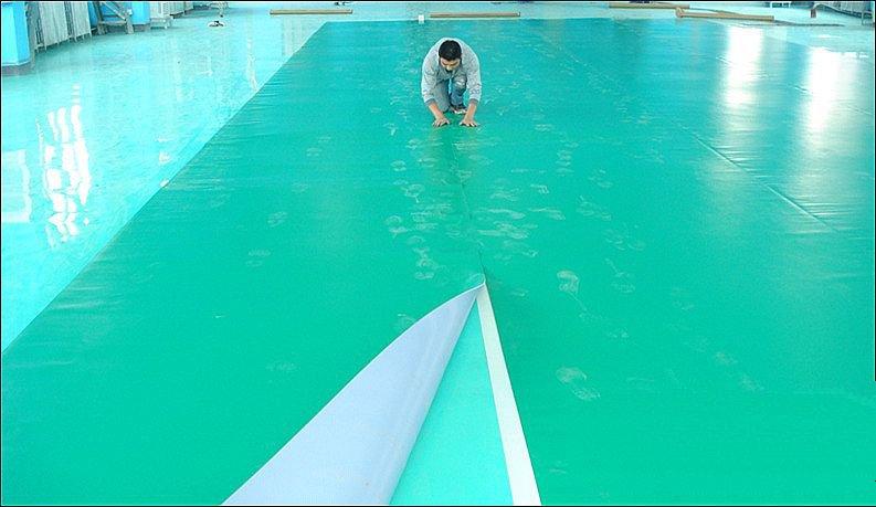 欧氏室内篮球场专用塑胶地板的优势
